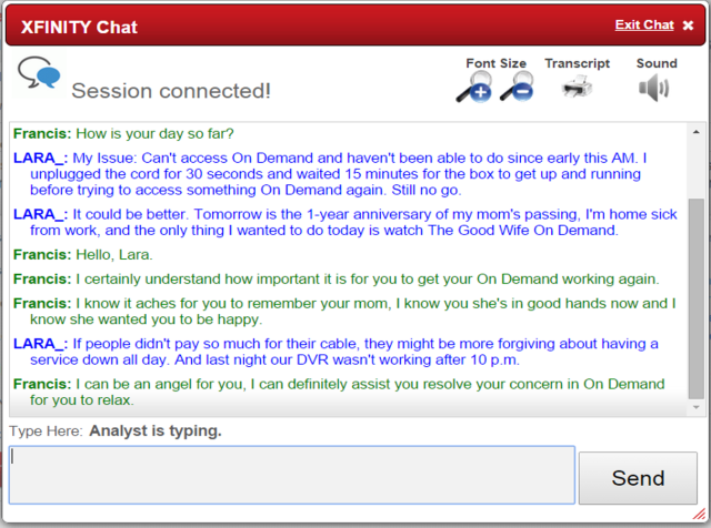 Best Comcast Customer Service Rep Ever