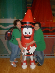 Wen and Me at the Crayola Factory