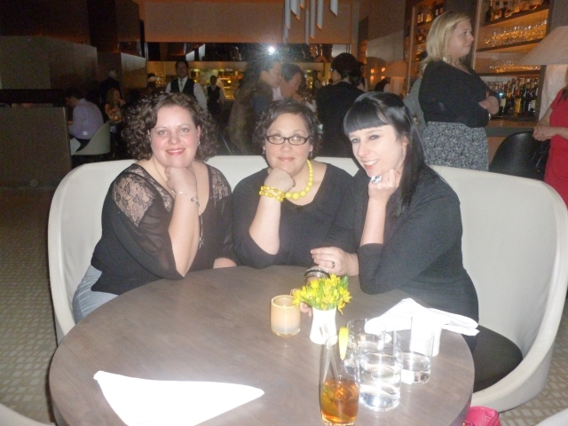 Wendy, me, and fellow January birthday girl Jenna at Nougatine, 2013. We were making fun of people who do this pose to hide their waddle or double chin. We are dumb like that.